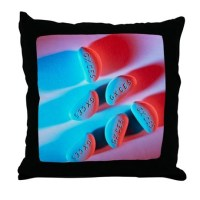 Migraine tablets - Throw Pillow by sciencephotos