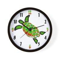 Green Sea Turtle Clocks | Green Sea Turtle Wall Clocks ...