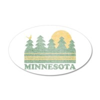 Vintage Minnesota Sunset Wall Decal by NationalVintage