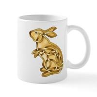 Rabbit Mug by KnotYourWorld