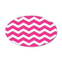 Hot pink chevron Wall Sticker by InspirationzStore