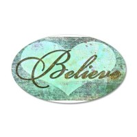 believe teal heart Wall Decal by ibeleiveimages