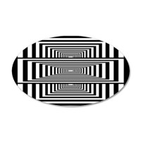 Optical Illusion Rectangles Wall Decal by thepluralmind