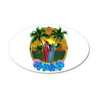 Island Sunset Parrot Wall Decal by BailoutIsland