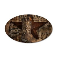western cowboy Decal Wall Sticker by TheRusticCottage