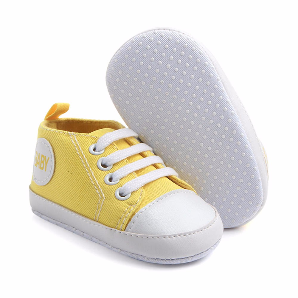 Newborn Elastic Shoes Muqgew Toddler Shoes Newborn Infant Baby Boys Girls Solid Canvas Anti Slip Soft Shoes Sneaker Fashion Patch Cotton Shoe For Baby