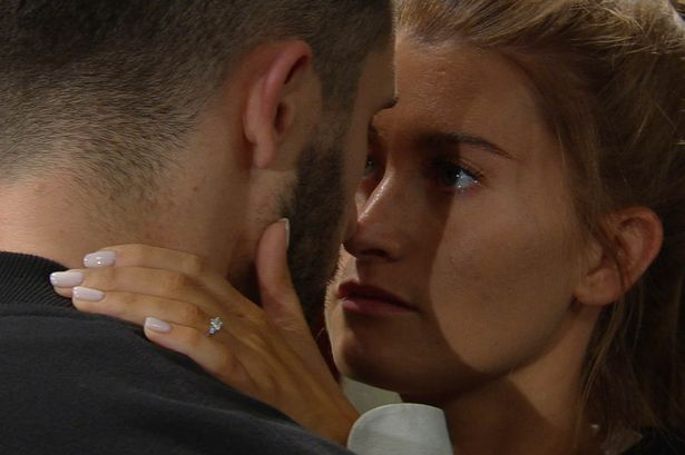 Debbie Dingle [CHARLEY WEBB] and Pete Barton [ANTHONY QUINALN] in Emmerdale