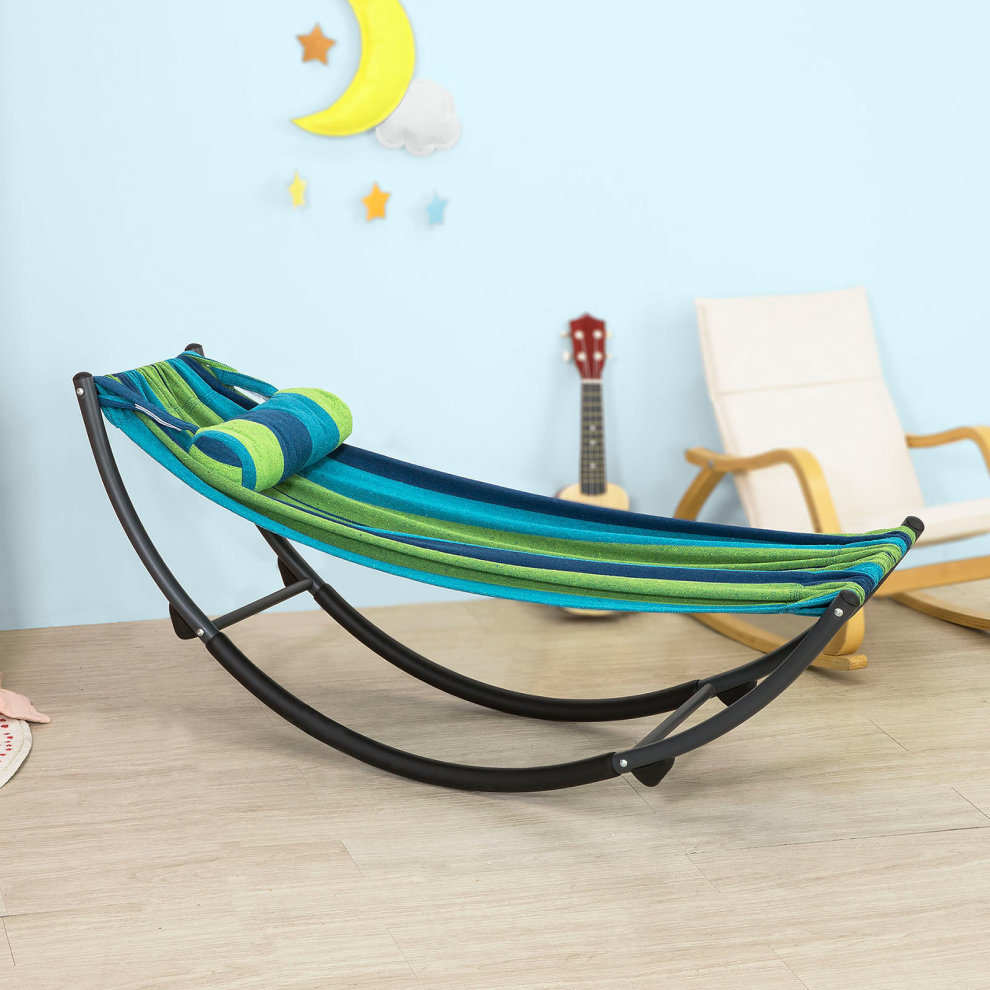 Sobuy Shop Sobuy Kmb05 J Children Kids Rocking Hammock Metal Frame