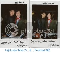 Polaroid 300 versus Instax Mini