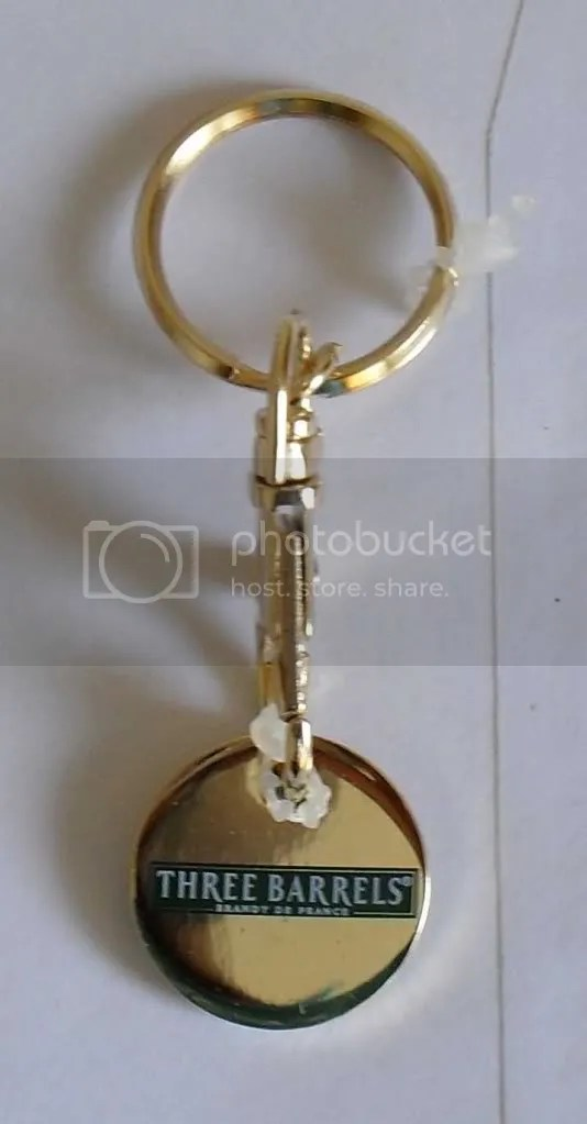 Seats N Sofa Official Three Barrels Brandy Key Ring Locker Coin £5 | Ebay
