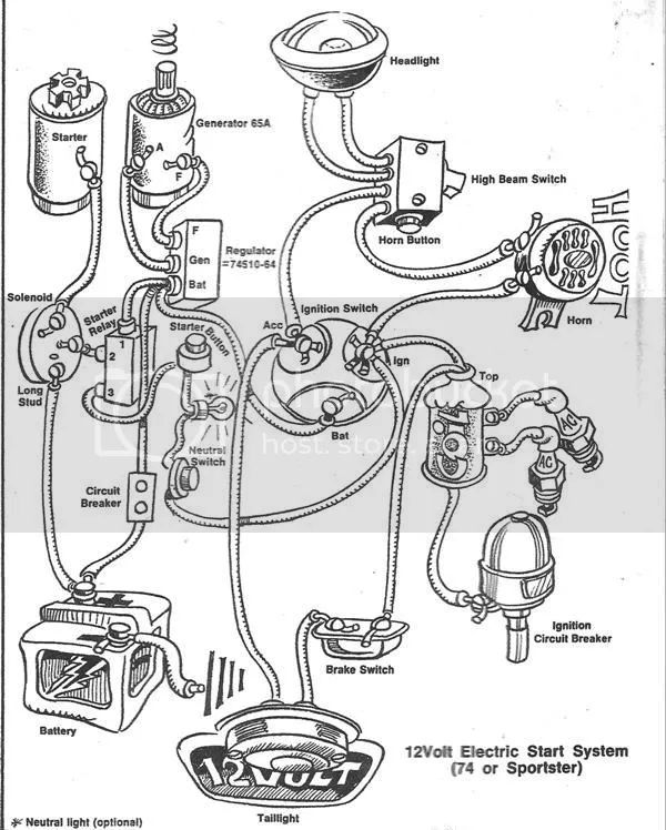 kick start harley wiring diagram
