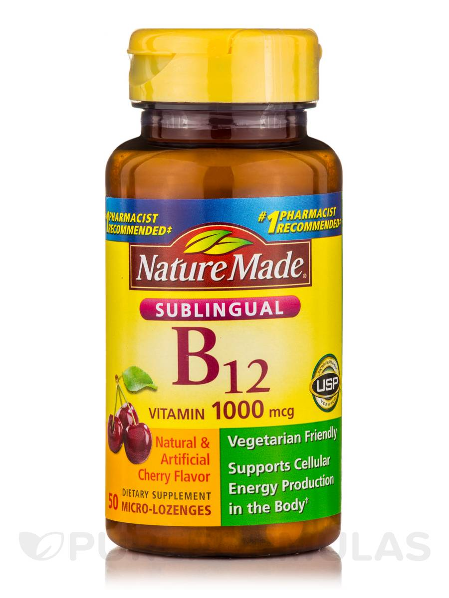 Foods Vitamin B 50 Sublingual Vitamin B12 1000 Mcg Cherry Flavor 50 Micro Lozenges