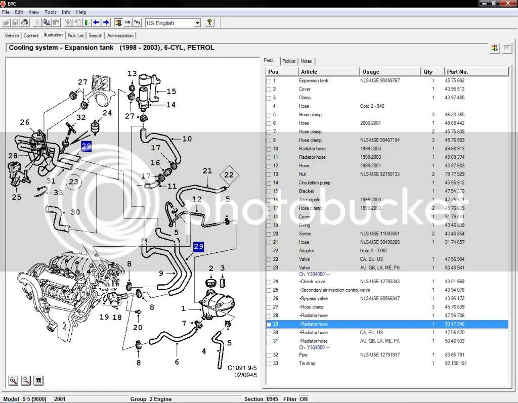 saab c900 vacuum diagram