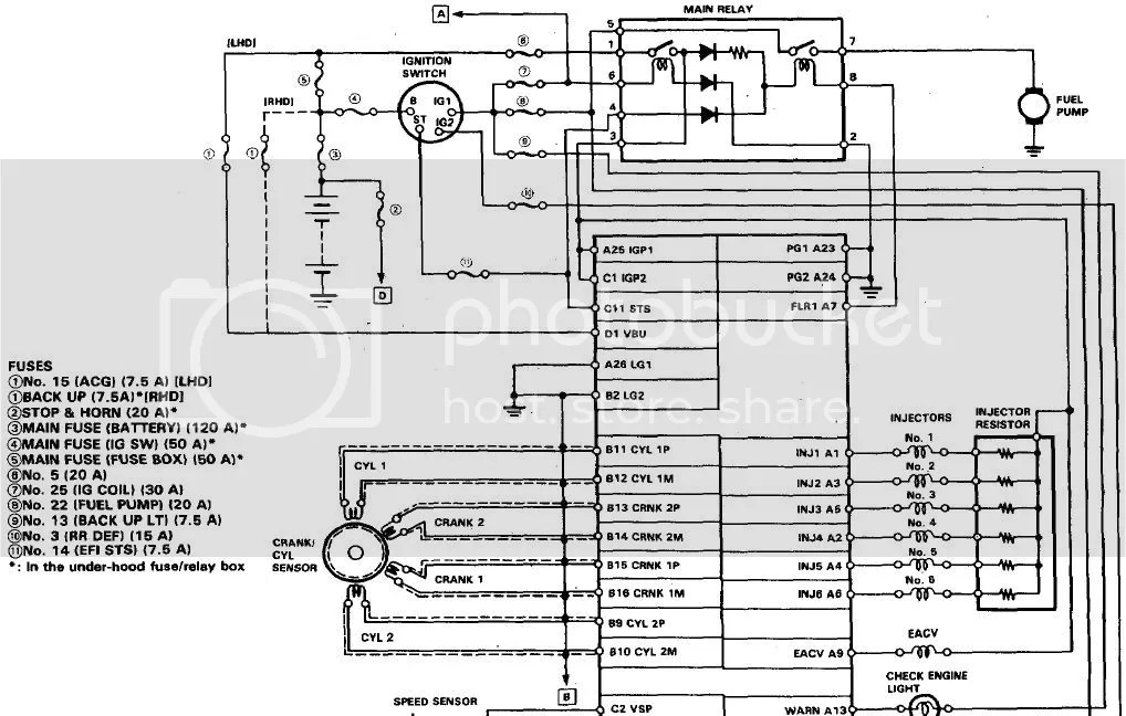 Acura Legend Fuel Pump Wiring Diagram - Example Electrical Wiring