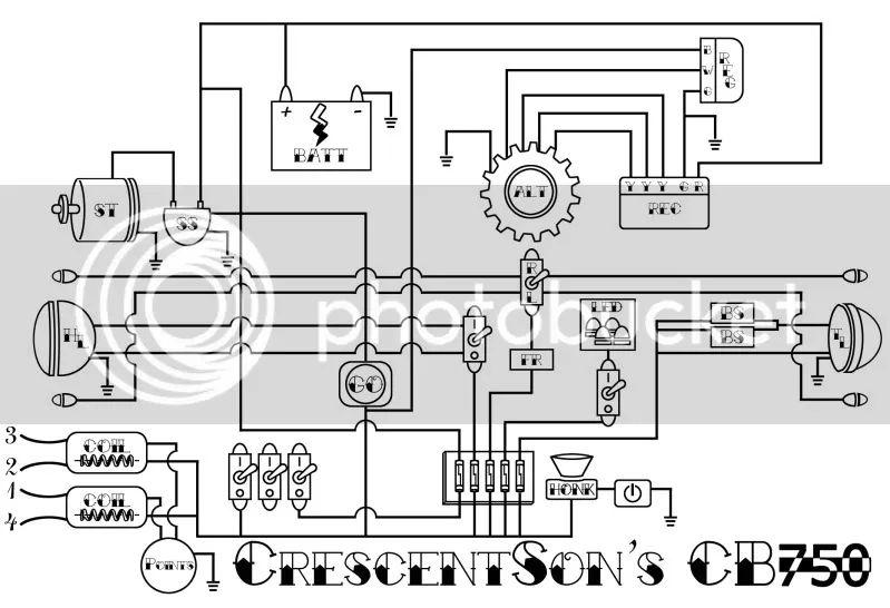 wiring diagram cb750k4