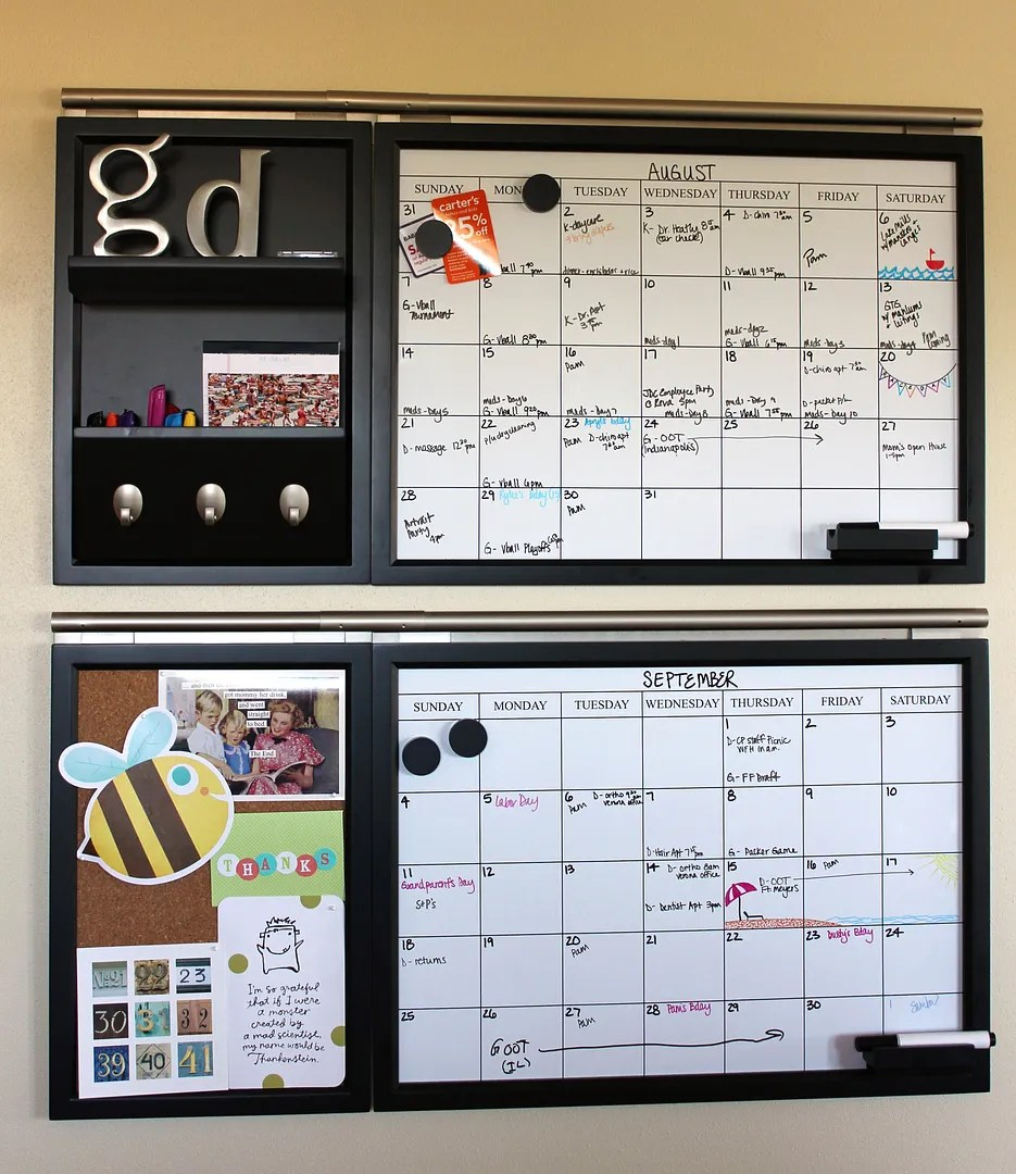 Kitchen calendar command center all things g d for Bulletin board ideas for kitchen