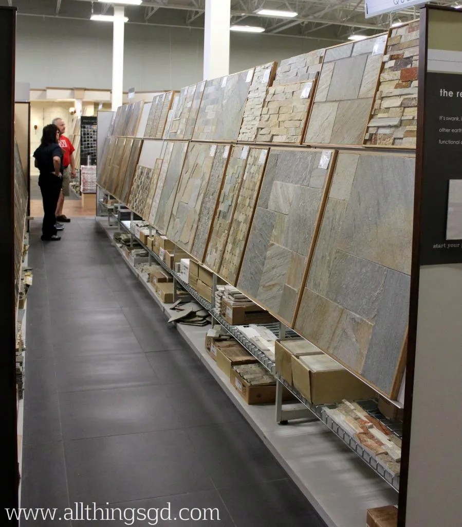 Tile shop tuesday tile tour all things g d for Showroom flooring ideas