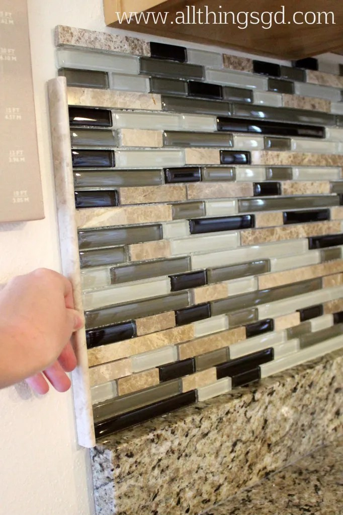 How to cut glass tiles for backsplash