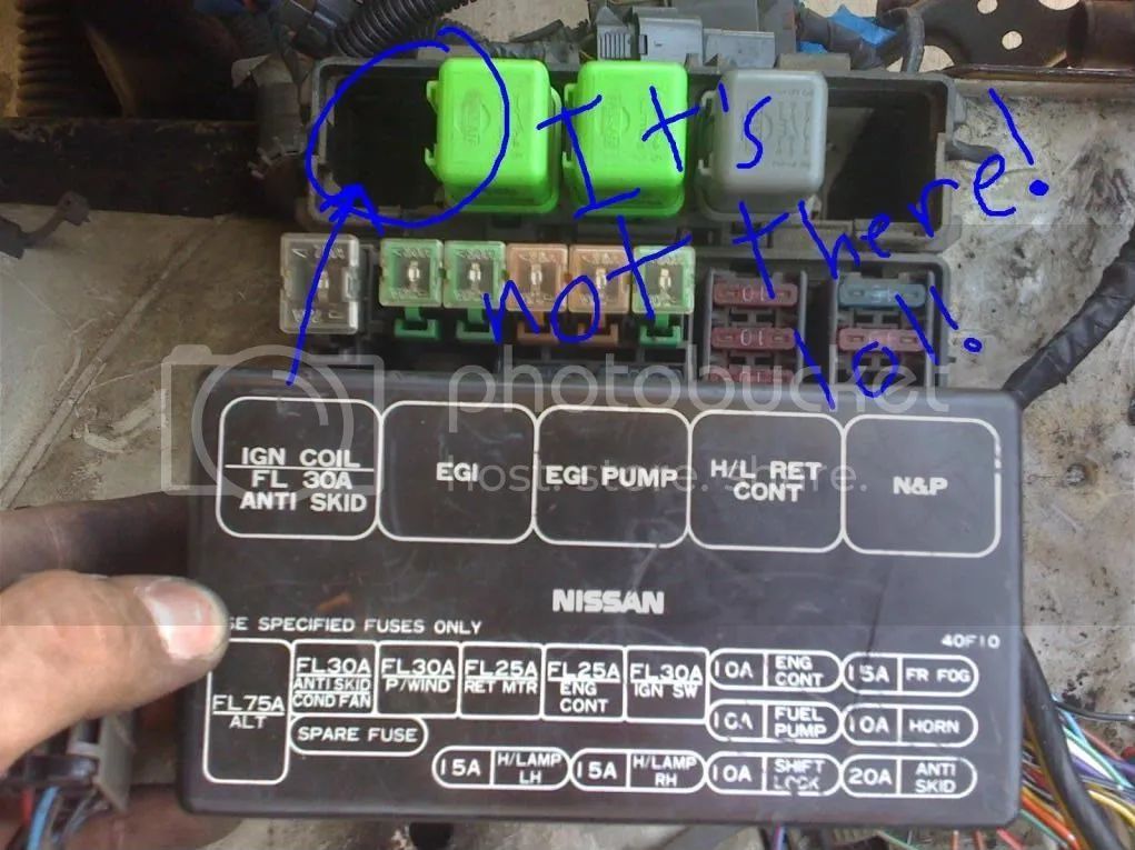 fuse box for 1997 nissan 240sx