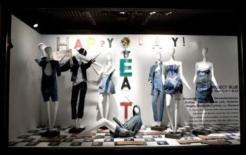 Barneys New York shop window display