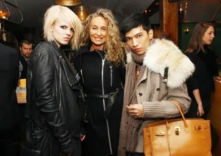 Becka Diamond, Ann Dexter Jones, Bryanboy at Charlotte Ronson Dinner at Kampuchea