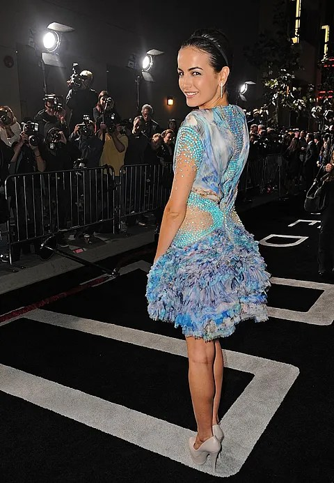 Camilla Belle in Alexander McQueen Spring 2010 dress at 2012 Movie Premiere