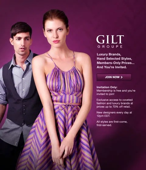 Gilt Groupe Invitation Invite