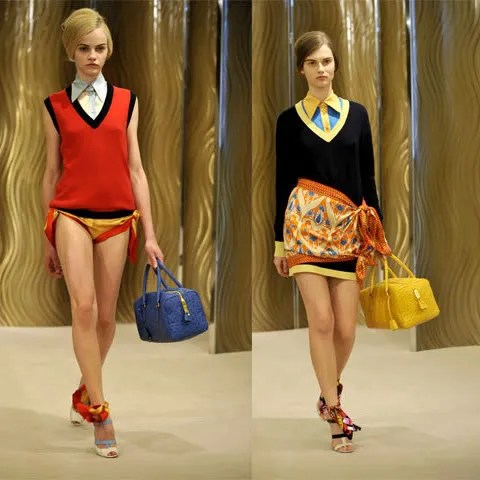 Prada Resort Collection 2010 ostrich bags