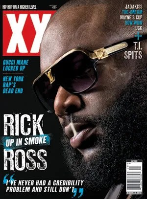Rick Ross' fake louis vuitton sunglasses on the cover of xxl magazine