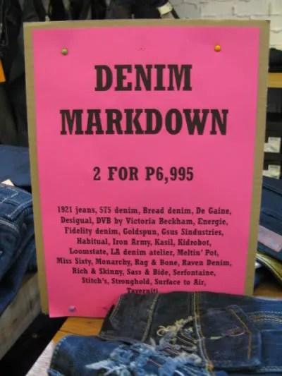 Theodore's Store Denim Markdown Event