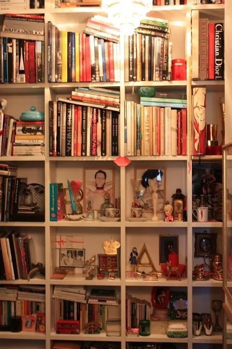 Anna Dello Russo's Apartment - Bookshelf