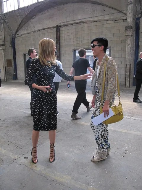 Bryanboy and Carine Roitfeld at Dior Homme