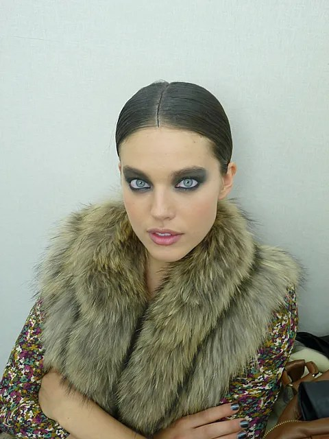 Chanel backstage spring summer 2011 Emily DiDonato