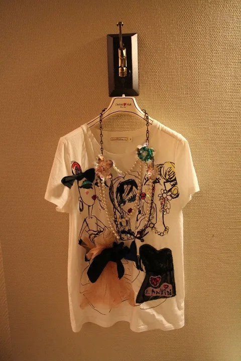 Lanvin x H&M t-shirt and necklace