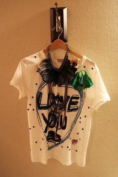 Lanvin t-shirt and Lanvin necklace