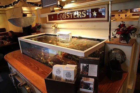 Lobster tank at Union Oyster House Boston