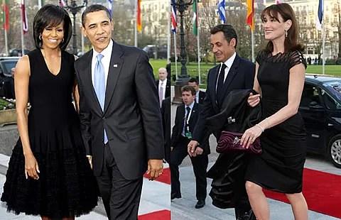 Michelle Obama and Carla Bruni