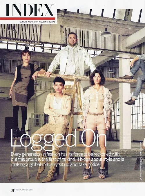 Fashion Bloggers on American Vogue March 2010