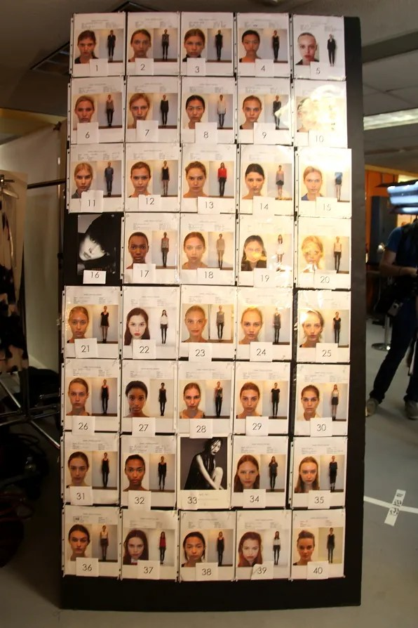 Beauty board at 3.1 Phillip Lim spring summer 2012 fashion show