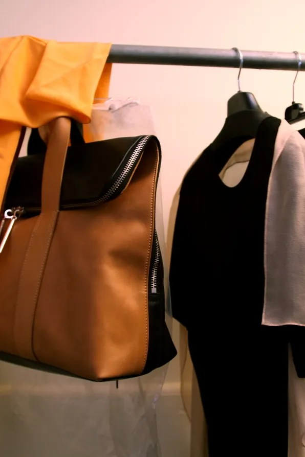 A bag and a top from 3.1 Phillip Lim spring summer 2012 collection