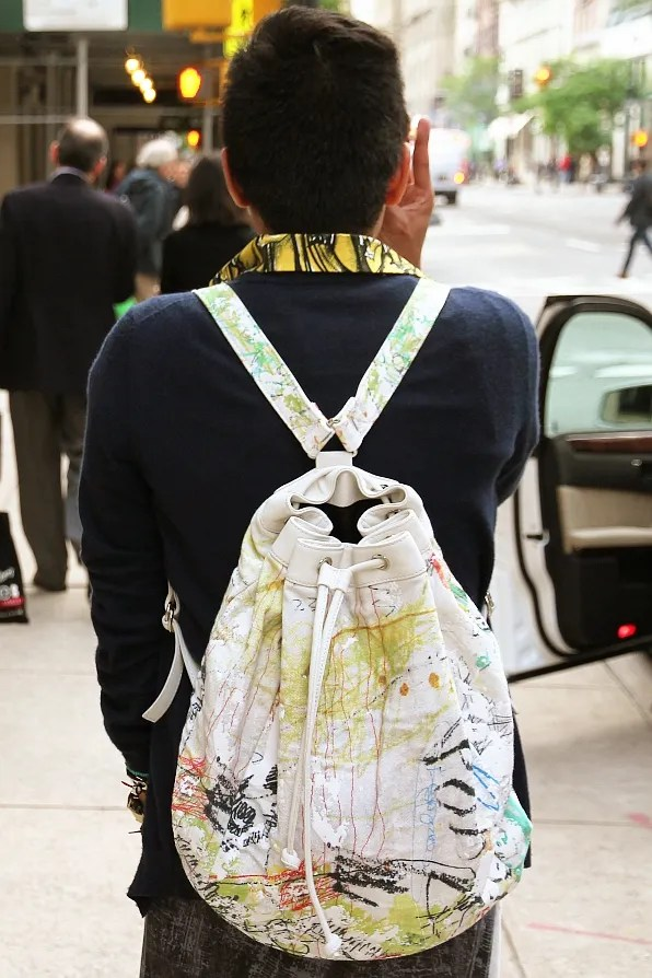 Alexander Wang backpack worn by Bryanboy