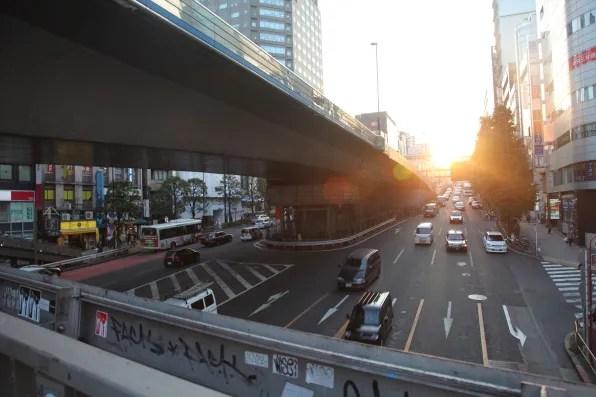 A bridge in Shibuya, Tokyo.