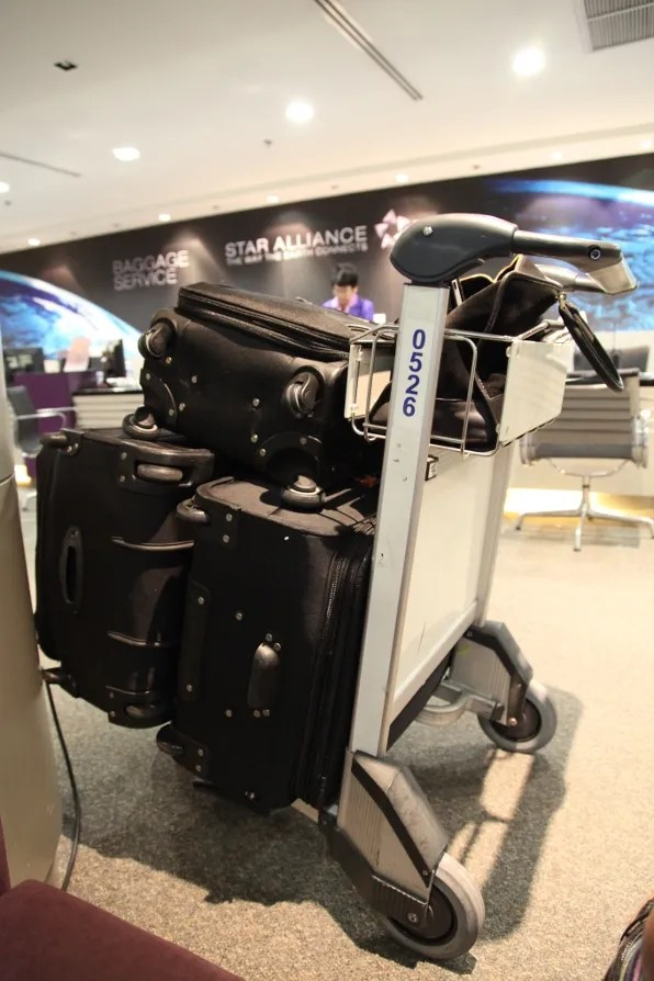 Bryanboy's black suitcases