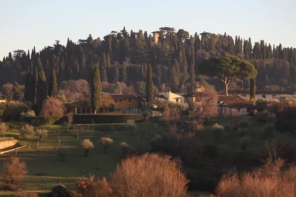 View of Tuscany Hills from Boboli Gardens, Florence