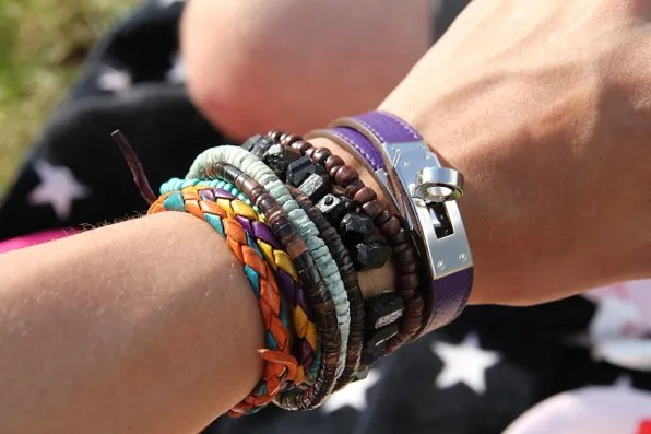 Bryanboy's bracelets as worn at a picnic in Stockholm.