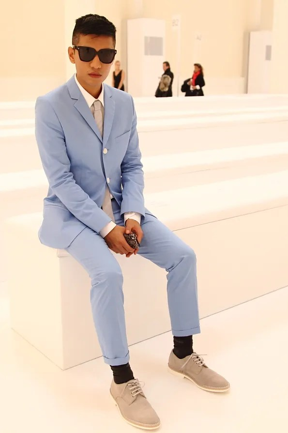 Bryanboy at HUGO fashion show Berlin fall winter 2012