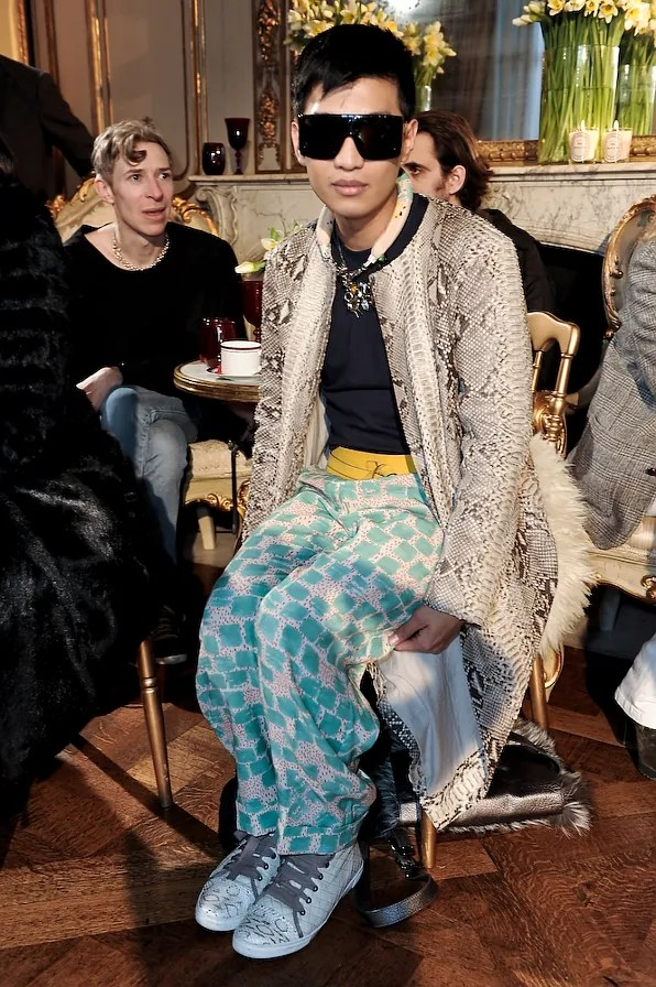 Bryanboy at the John Galliano fall winter 2011 fashion show