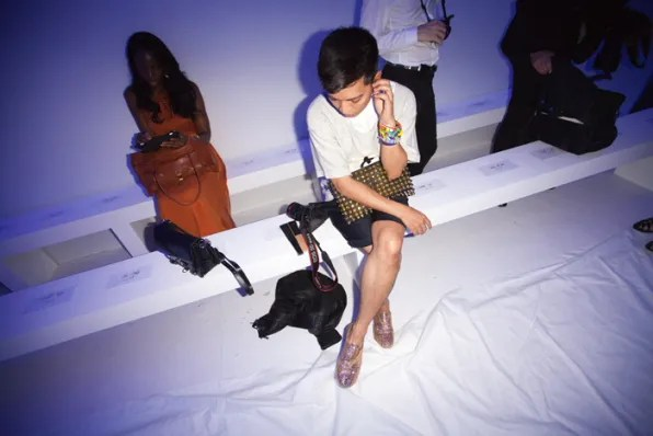 Bryanboy sitting front row at Kanye West spring summer 2012