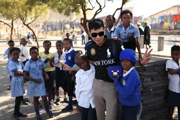 South African school boy in Soweto