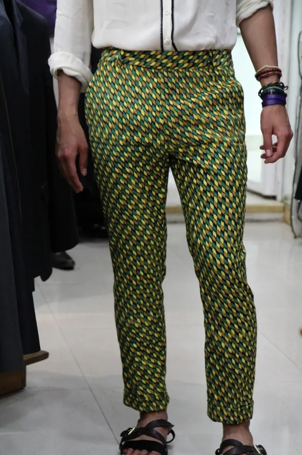 Full view of Bryanboy's tailored trousers